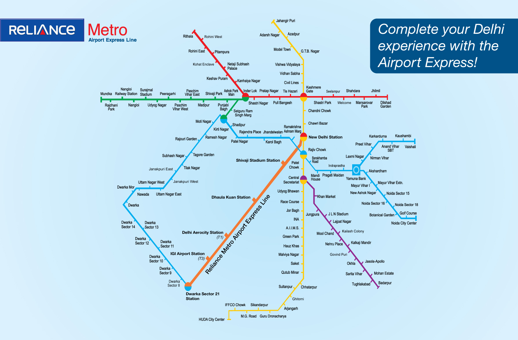 airport express metro route map Delhi Airport Metro Express Map لم يسبق له مثيل الصور Tier3 Xyz airport express metro route map