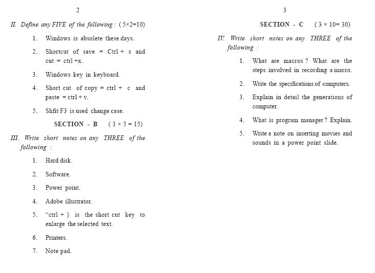 Annamalai University B Sc Fashion Design First Year Basics Of Fashion Exam Previous 2020 2021 Eduvark