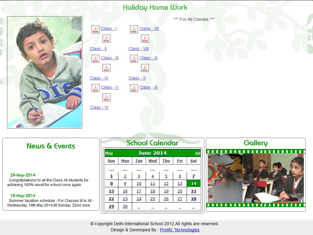 dwarka international school holiday homework 2014-15