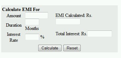 sbi nri home loan emi calculator