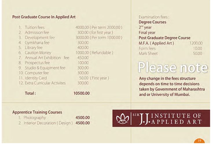 JJ School Of Arts Interior Designing Course