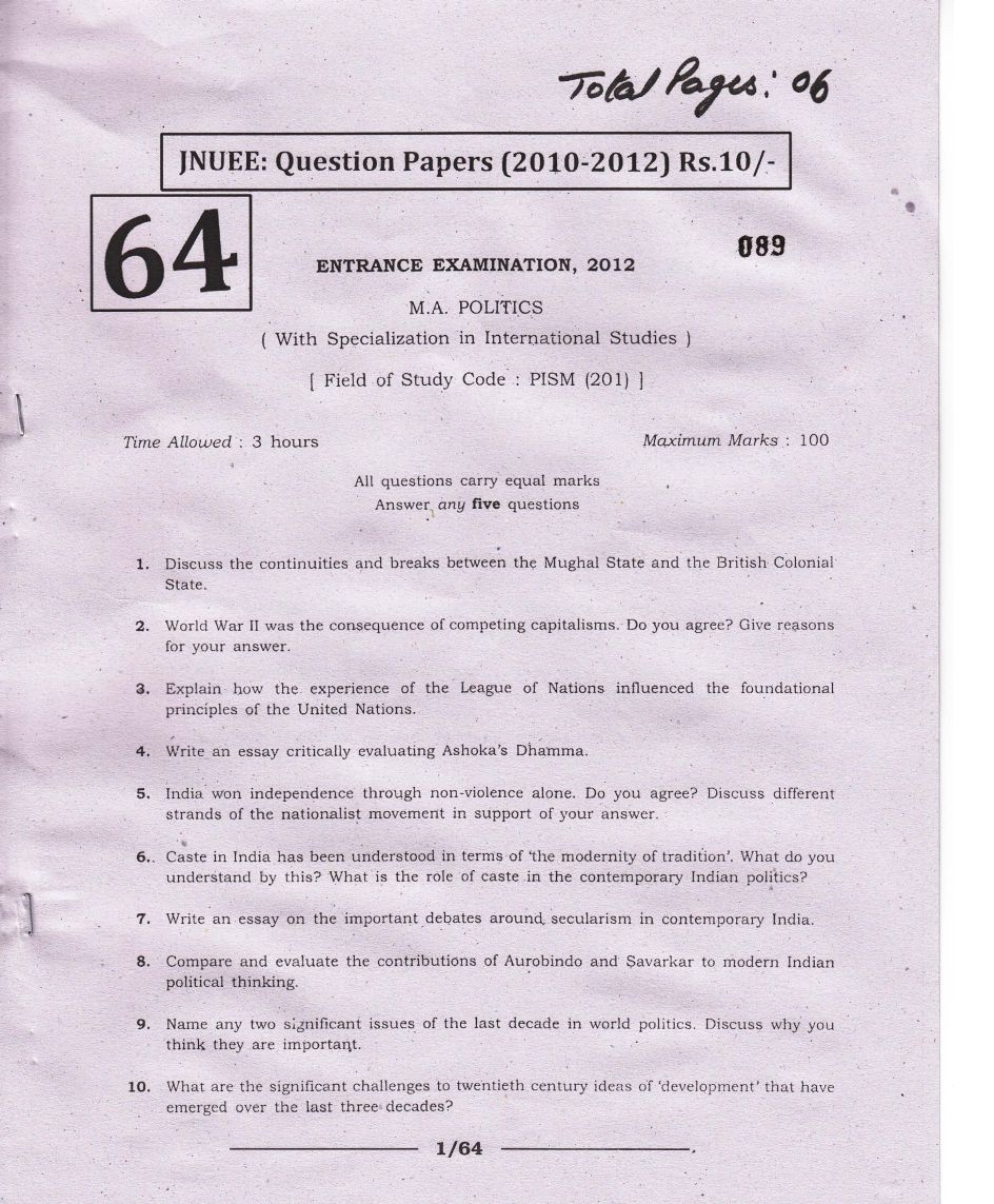 question paper for jnu international relations eduvark 8 what are the philosophical and ethical problems raised by the debate around the death penalty