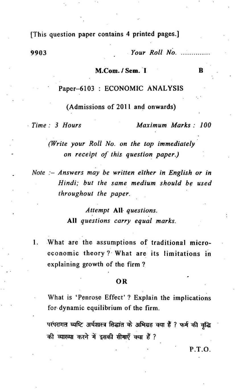 Term paper school economics
