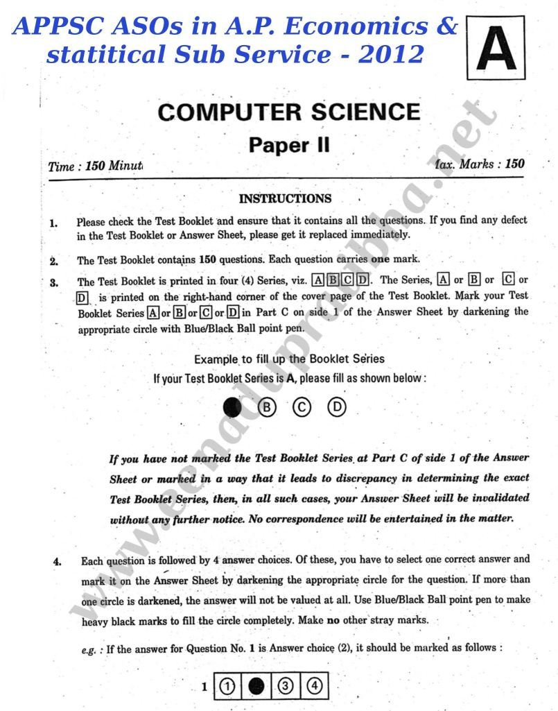 APPSC ASO MODEL PAPERS PDF