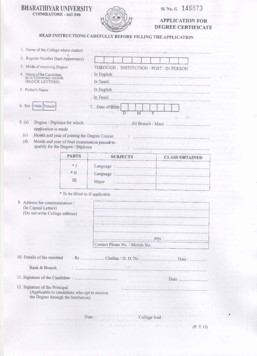 How to get a degree certificate fieldstation how to get a degree certificate calicut university degree certificate sample yadclub Gallery