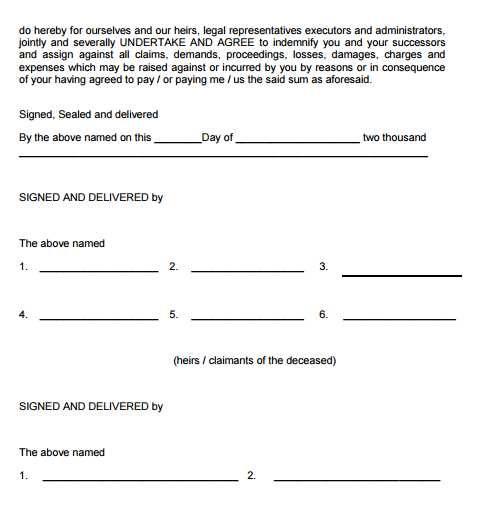 Letter of Indemnity State Bank of India 2017 2018 EduVark – Indemnity Letter Template