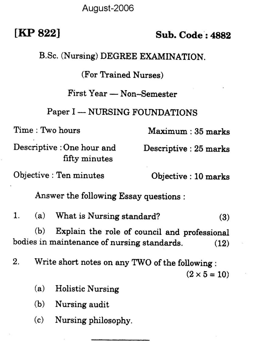question paper st year post basic bsc nursing eduvark for the question paper here is the attachment