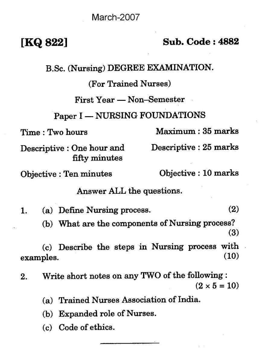 Nursing paper