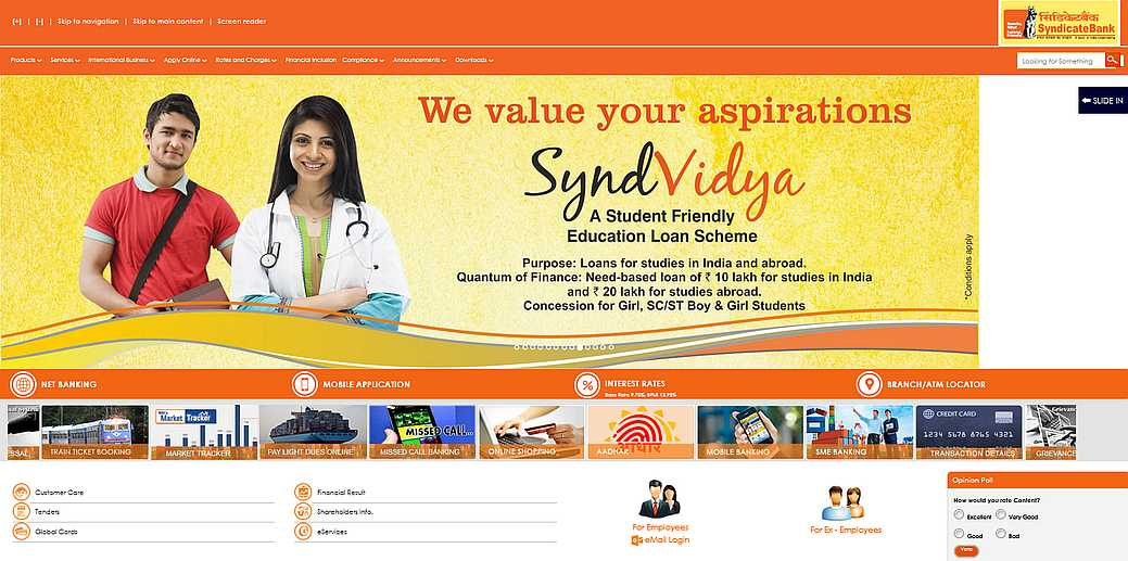 atm card application form syndicate bank