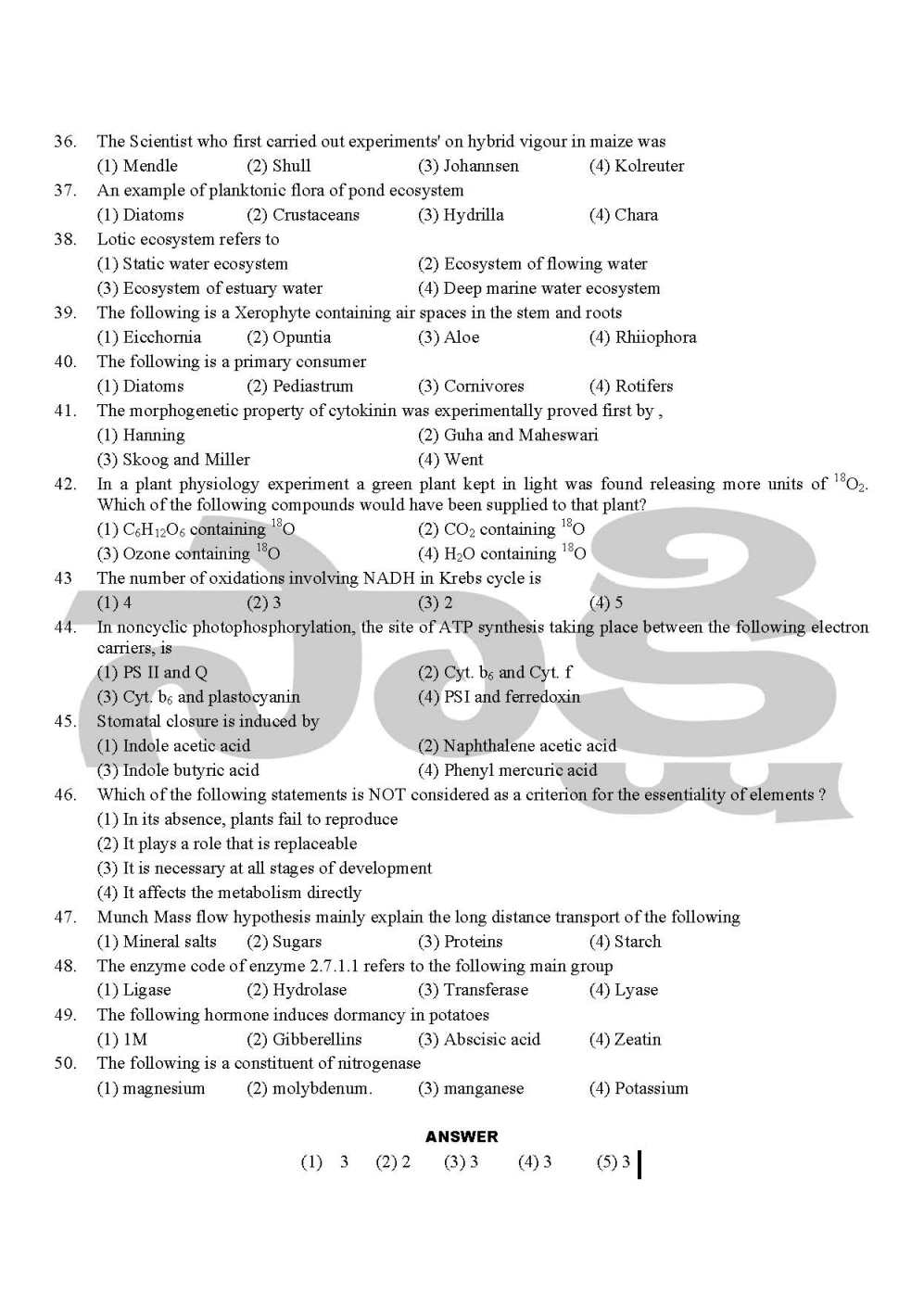 eamcet bipc previous papers