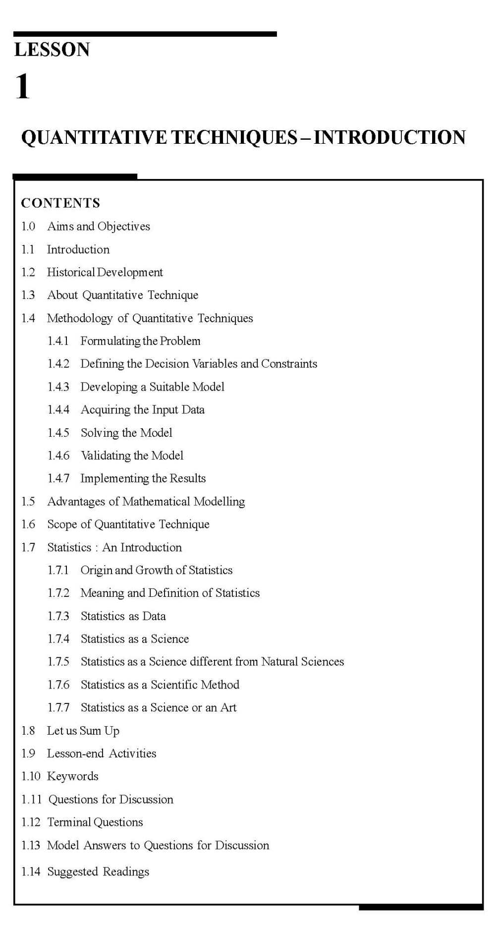 MBA Quantitative Techniques Notes PDF - 2018 2019 EduVark
