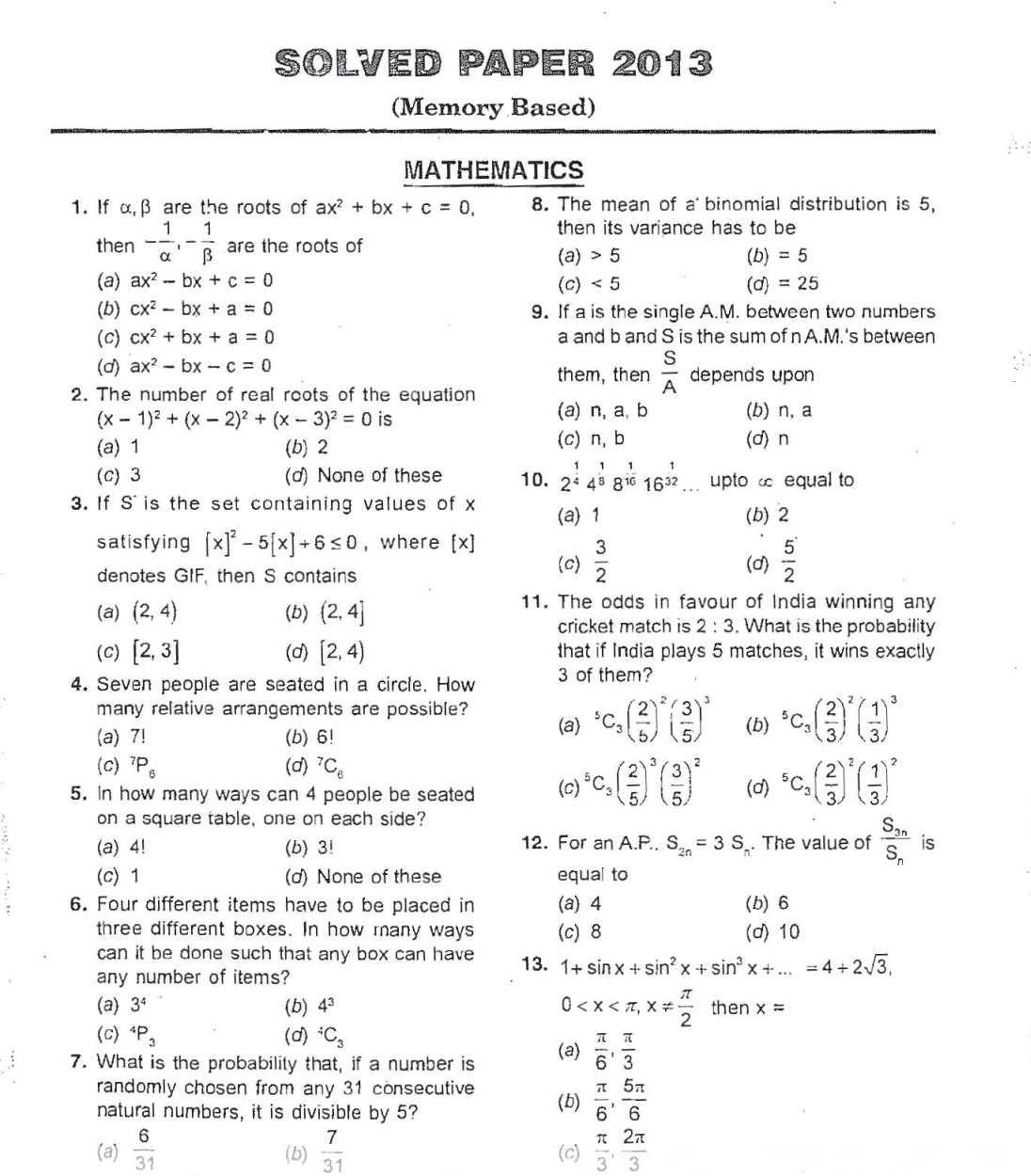 Bitsat Question Papers Pdf