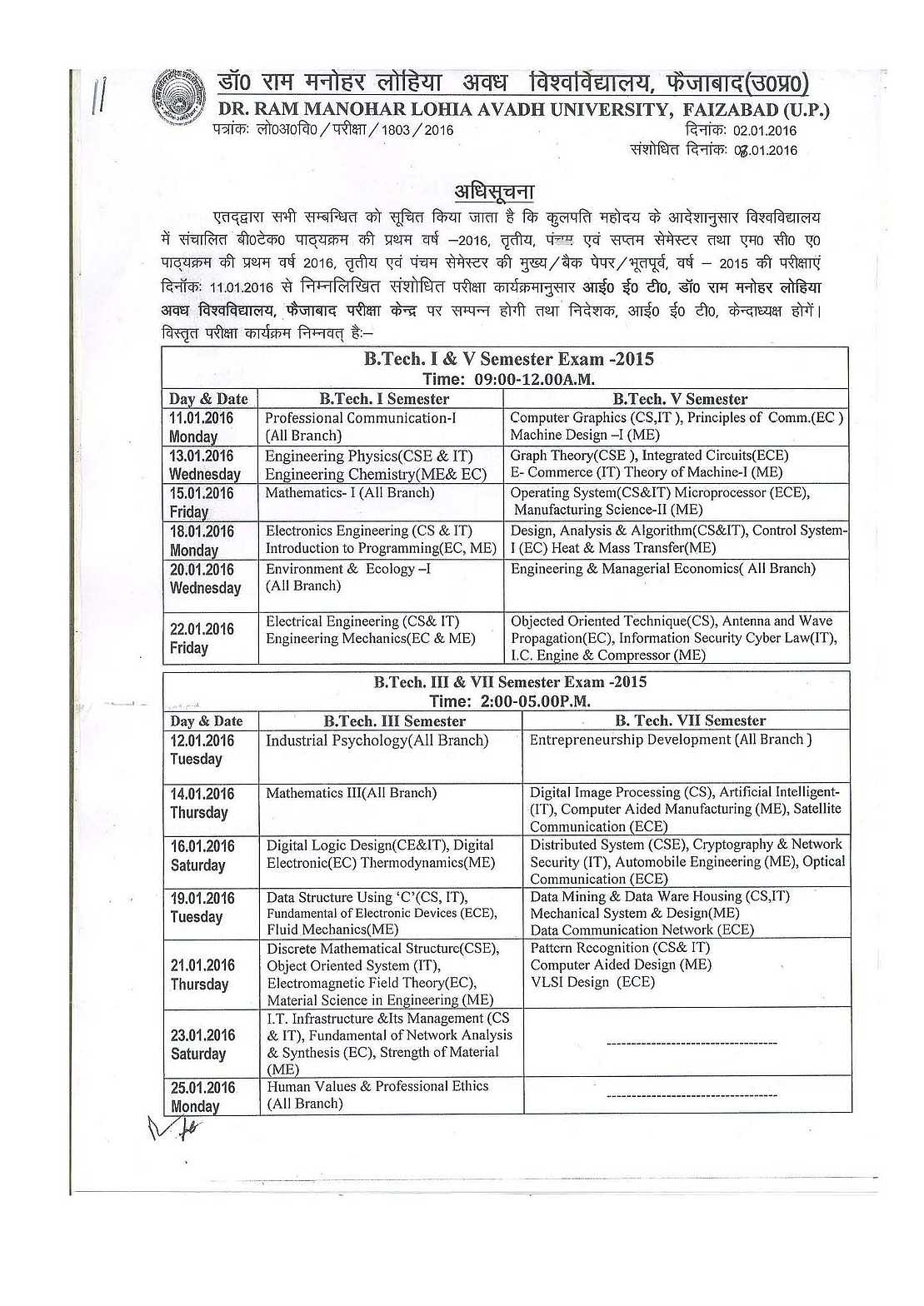 Hindustan ki aawaz live: examination scheme 2014 dr ram manohar.