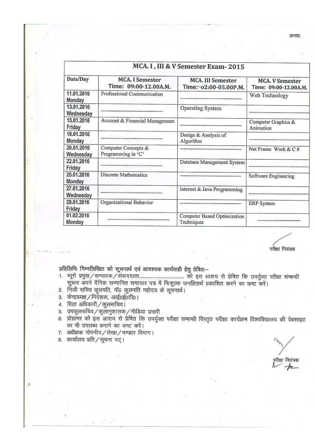 Dr. Ram manohar lohia avadh university m. A. Exam time table 2019.