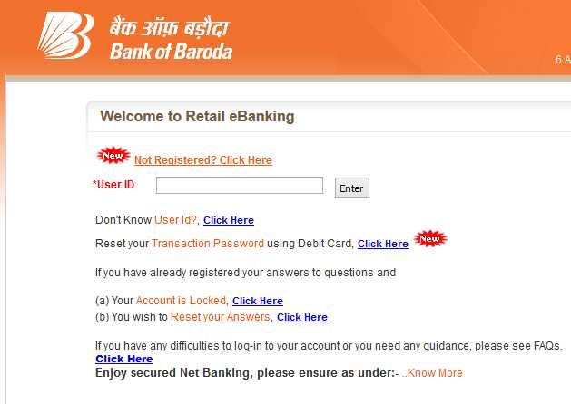 Online Banking With Bank Of Baroda - 2021 2022 EduVark