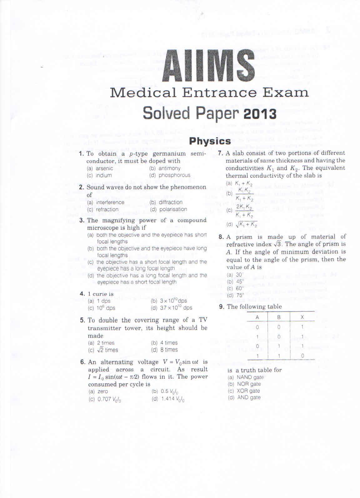 Aiims entrance exam syllabus 2016 pdf printable calendar
