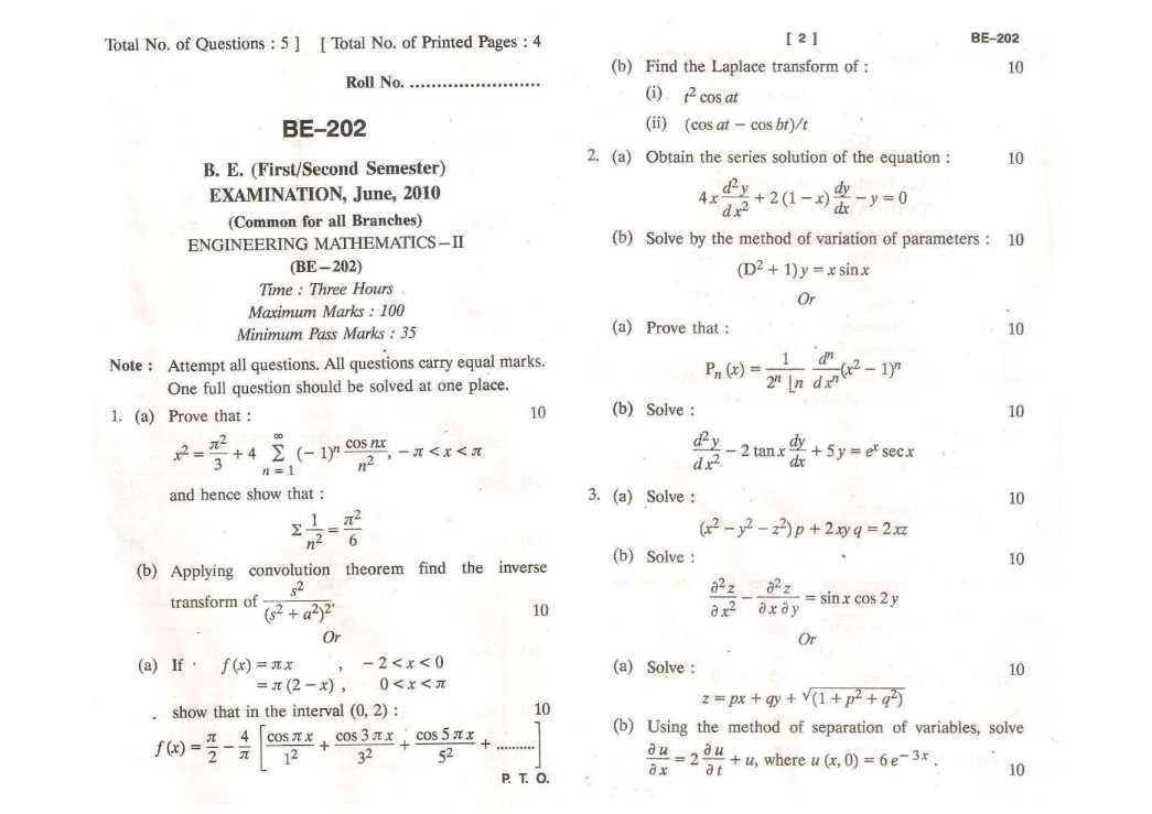 Rgpv Engineering Mathematics 3 Pdf
