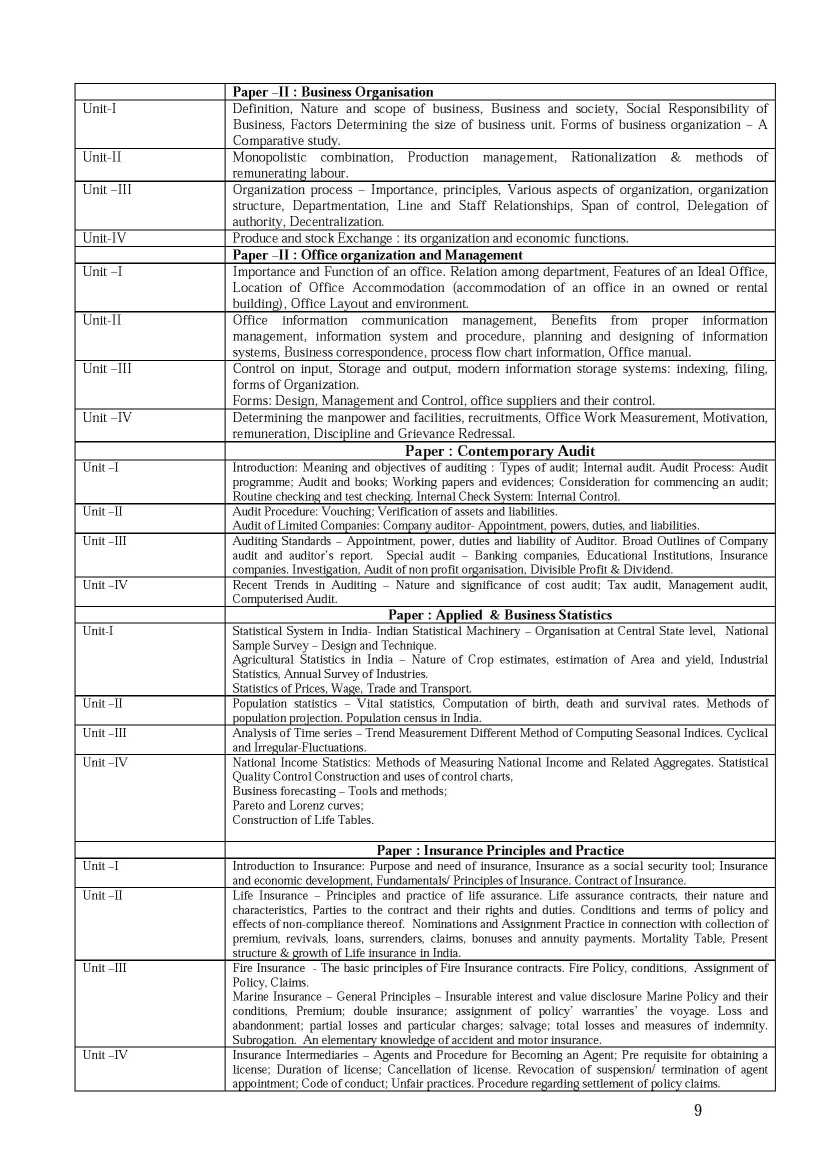 sample paper of lucknow university 2017 2018  lucknow university b com part iii syllabus