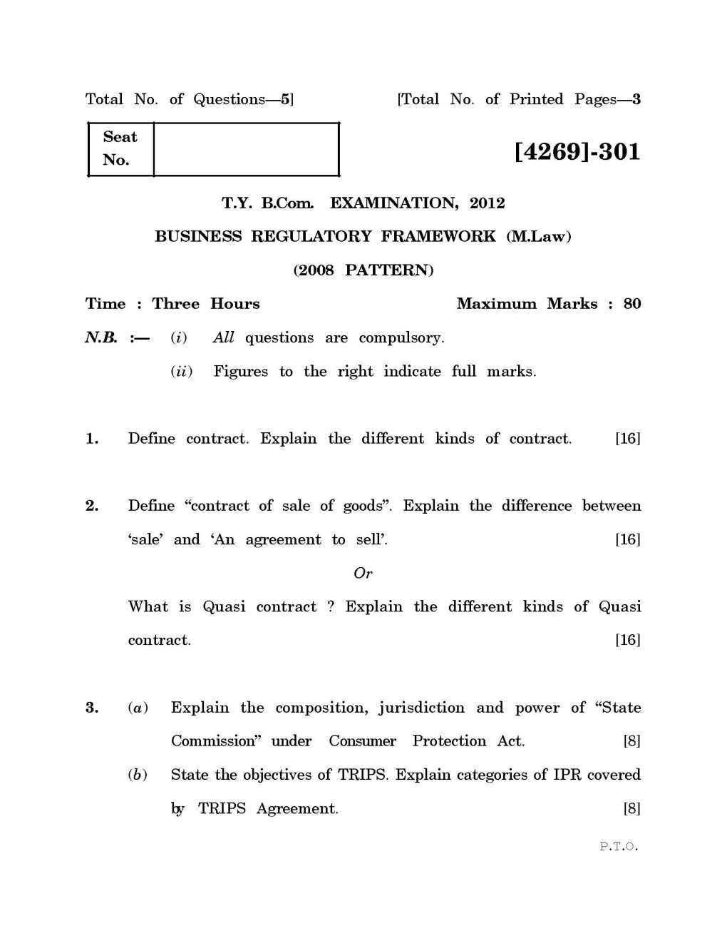 tybcom question papers of pune university eduvark ty bcom question papers old pune university