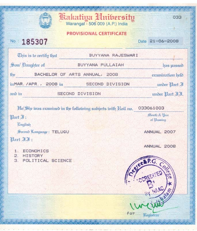 Sample degree certificate osmania university gallery certificate osmania university degree certificate sample images certificate sample degree certificate osmania university image collections ou degree yadclub Image collections