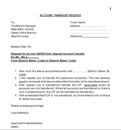 East Canton Village – All Of The Sbi Form For Account Transfer