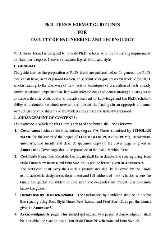 Thesis format for phd anna university free professional medical resume templates