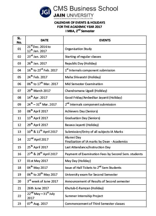 Cms Calendar 2022.Cms Business School Jain University Bangalore 2021 2022 Eduvark