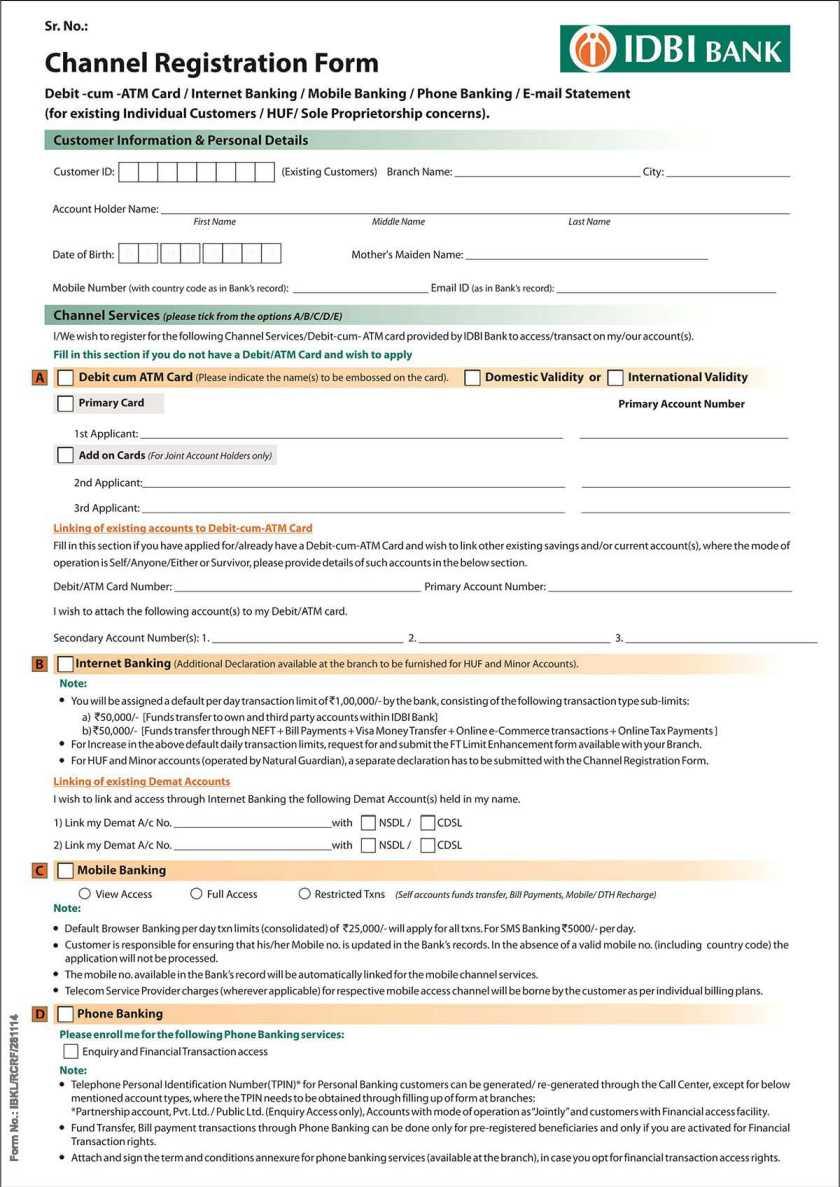 idbi bank job application form