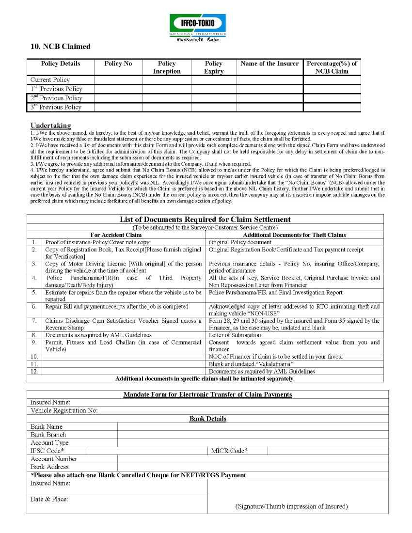 Amazing insurance claim form template contemporary professional uiic motor claim form impremedia falaconquin