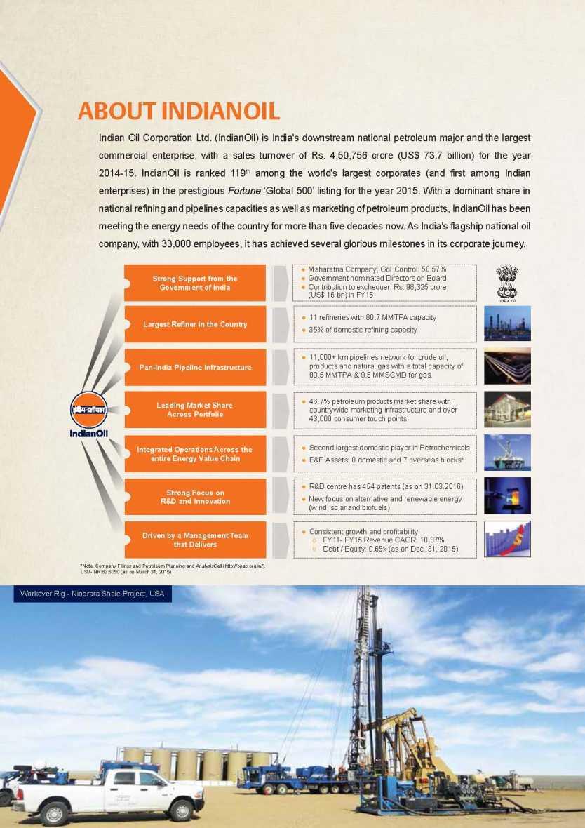 Indian Oil Corporation Limited Brochure - 2018 2019 EduVark