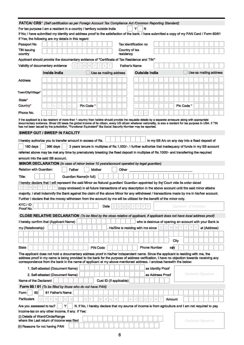dena bank ecs form