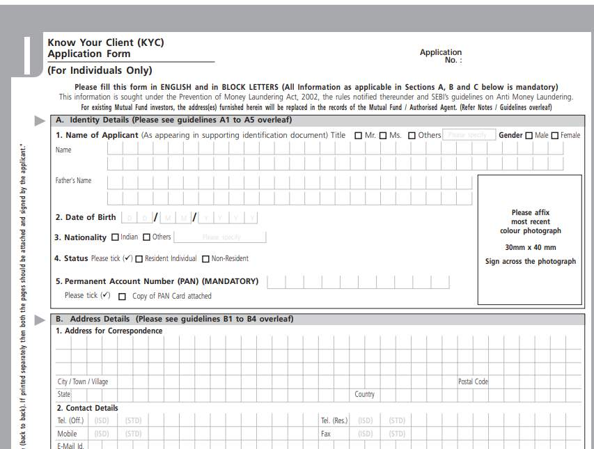 syndicate bank kyc form